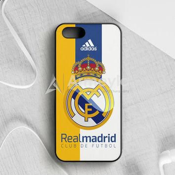Real Madrid Fc Jersey Black Adidas iPhone 5|5S|SE Case | armeyla.com