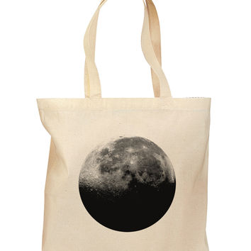 Moon of Earth Grocery Tote Bag