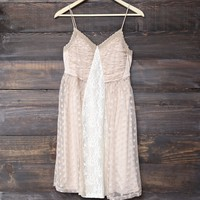 Ryu - whimsical wonder light beige dress