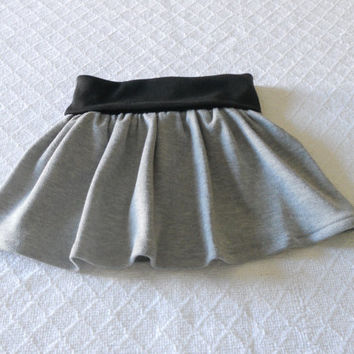 Baby Fold Over Waist Knit Skirt, Toddler Skirt, Infant Skirt, Baby Skirt, Solid Color Skirt Baby, Twirl Skirt Baby, Flounce Skirt Baby