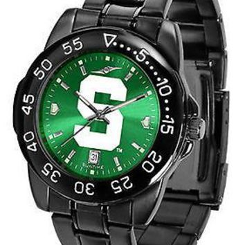 Michigan State Spartans Mens Watch Fantom Gunmetal Anochrome Green Dial