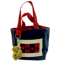 Boyds Bears Plush Aces Small Tote Handbag / Tote