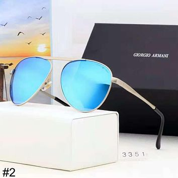 Giorgio Armani 2018 new high-end men's polarized retro color film sunglasses #2