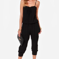 Seal of Approval Black Jumpsuit
