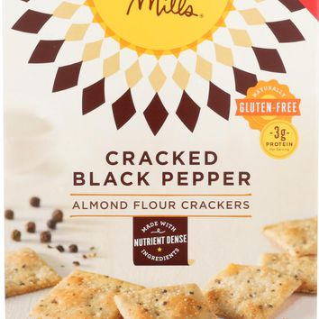 SIMPLE MILLS: Cracked Black Pepper Almond Flour Crackers, 4.25 oz