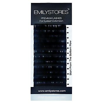 EMILYSTOR Eyelash Extensions 0.25mm Thickness D Curl Length Silk Mink Fake Eye Lashes In One Tray