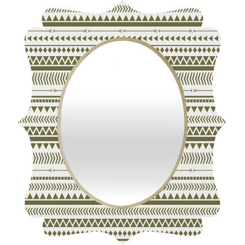 Allyson Johnson Green Aztec Quatrefoil Mirror
