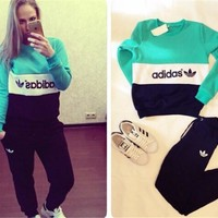 Pants Bottom & Top Sports Casual Hoodies Set [10885113031]