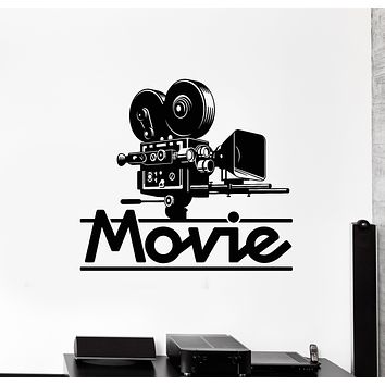 Vinyl Wall Decal Movie Art Film Cinema Filming TV Camera Stickers Mural (g1664)