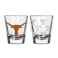 Boelter 2 ounce Satin Etch Shot Glass NCAA Texas Longhorns