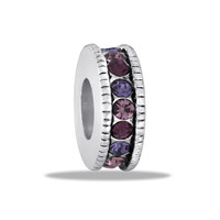 DaVinci Beads Pink And Purple CZ Wheel Jewelry