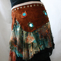 RustColoured Suede Tribal Fusion/Tribaret Belly Dance by JujuBart