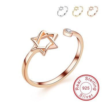 Star of David Open Ring For Women