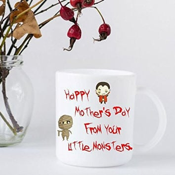 Happy Mother's Day From Your Little Monsters Coffee Mug - Gift for Mom - Halloween Themed Coffee Mug