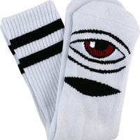 Toy Machine Sect Eye III Crew Socks White 1 Pair