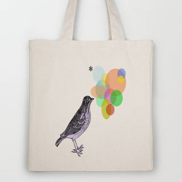 Candy Birds : Tweets Tote Bag by Sreetama Ray | Society6