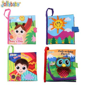1pcs Jollybaby Owl Horse Cloth Book Baby Fabric Books English Educational Infant Learning Toy Bedtime Story