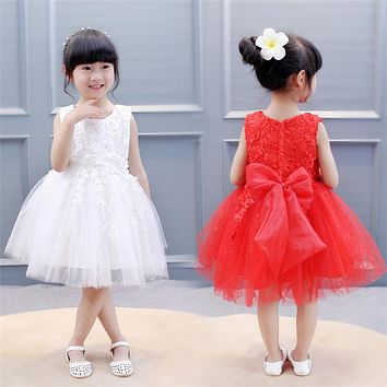 Summer Girls Dress Children's Clothing Party Princess Wedding Dresses Kids Girls Birthday Outfit Costume Tutu Dress