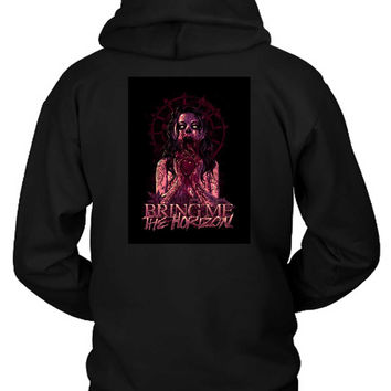 Bring Me The Horizon Zombie Girl Eat Heart Hoodie Two Sided