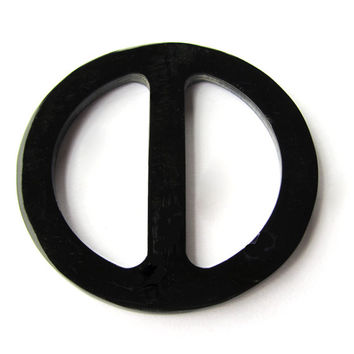 Large size Scarf ring, black horn Scarf ring, round, scarf jewelry, scarf clip, scarf necklace, black hand made organic horn
