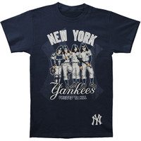KISS Men's  New York Yankees Dressed To Kill T-shirt Blue Rockabilia