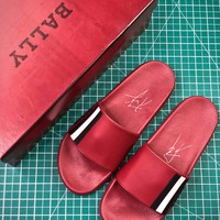 Bally Sandals Red Slipper - Best Online Sale