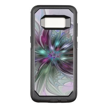Colorful Fantasy Abstract Modern Fractal Flower OtterBox Commuter Samsung Galaxy S8 Case