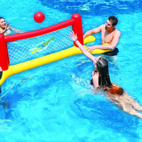 "94"" Red, Yellow and Blue Inflatable Swimming Pool Water Sports Volleyball Game Set"