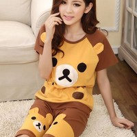 Super Kawaii Bear Short Sleeve Pajamas
