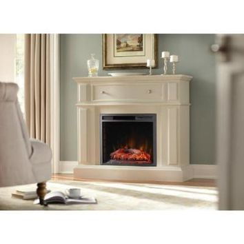 Home Decorators Collection, Ludlow 44 in. Media Console Electric Fireplace in Bleached Linen, 248-85-80-Y at The Home Depot - Tablet