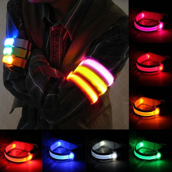 LED Safety Reflective Belt Strap Arm Band Belt Snap Wrap Armband Running Cycling Sports = 5617800961