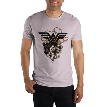 DC Comics Wonder Woman Lasso of Truth Logo Specialty Soft Hand Print Men's Orange T-Shirt