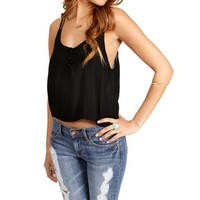 Black Cropped Top