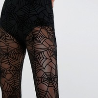 ASOS HALLOWEEN Leggings in Cobweb Mesh at asos.com