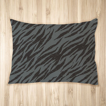 Grunge Zebra Pattern Pet Bed