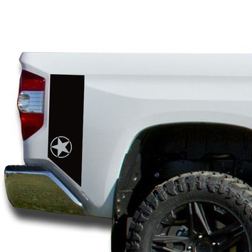 Oscar Mike Bedside Decals stripes Vinyl Sticker: fits 2014-2018 Toyota Tundra