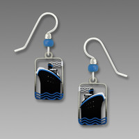 Sienna Sky Earrings - Art Deco Style Cruise Ship