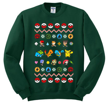 Pokemon Ugly Christmas Sweater sweatshirt unisex adults size S-2XL