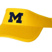 NCAA Licensed Michigan Wolverines Visor (Yellow)