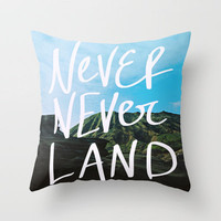 Never Never Land Throw Pillow by Leah Flores   Society6