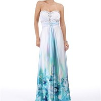 Cyd-White Satin Strapless Dress