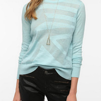 Urban Outfitters - Sparkle & Fade Geo Mesh Patterned Sweater