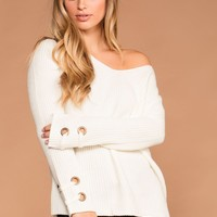 Mia Ivory Knit Sweater