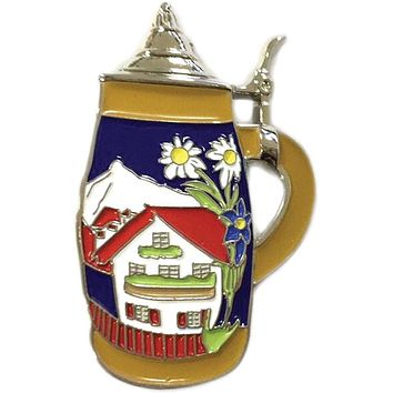 German Alpine Village Beer Stein Hat Pins for German Hat