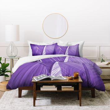 Rosie Brown Purple Palms Duvet Cover