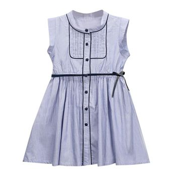Princess Stripe Button Party Dress For  Baby Girl