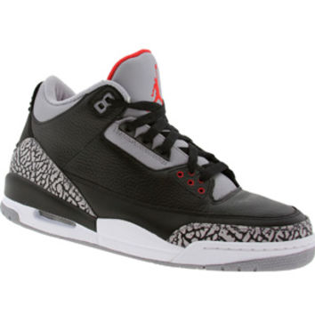 Air Jordan III 3 Retro Countdown Split (black / cement grey / varsity red) Shoes 340254-061 | PickYourShoes.com