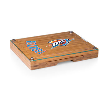 Oklahoma City Thunder - 'Concerto' Glass Top Cheese Board & Tools Set by Picnic Time