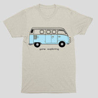 T-Shirt / Vintage VW Bus 'Gone Exploring'