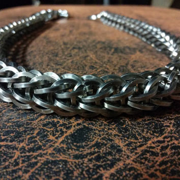 """Stainless Steel Chainmail Wallet Chain Square Wire Full Persian 22"""""""